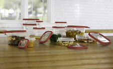 24 Pcs Plastic Food Storage Containers Set With Vents & Air Tight Locking Lids
