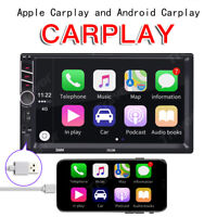 "7"" Double Din Car Stereo Radio For Apple CarPlay Android MP5 Player Head Unit"