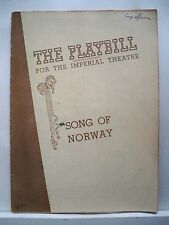 SONG OF NORWAY Playbill IRRA PETINA / LAWRENCE BROOKS / ROBERT SHAFER NYC 1945