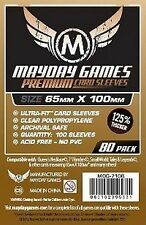 80 Buste Protettive Giochi da Tavolo / Boardgame Sleeves 65x100 mm MayDay THICK