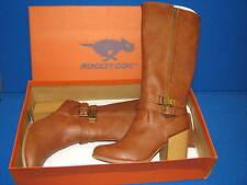 10 M Rocket Dog Ladies Womens Tan Brown Faux Leather Heel Boots Hewitt Sierras