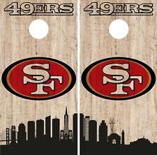 San Francisco 49ERS Cornhole Wrap NFL Game City Skyline Skin Vinyl Decal CO880