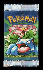 1999 Pokemon German 1st Edition Base Set LIGHT Booster Pack SEALED - Venusaur