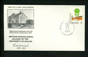 Postal History Canada NR Covers FDC #640 Ontario Agricultural College 1974