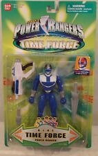 """Power Rangers Time Force - 5"""" Blue Ranger Light Up Helmet Blaster Swords (MOC)"""