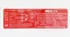HSV & Holden Commodore LS1 V8 V2 VT VU VX Emission Control Warning Decal Sticker
