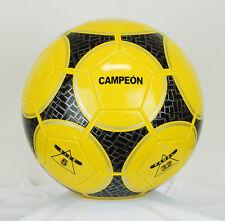 Black Yellow Soccer Ball Futbol Football Fifa World Cup Size 5 Official NEW