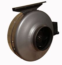 """Centrifugal industrial in-line duct extractor fan 6""""/150 mm; Zink Coated Metal"""