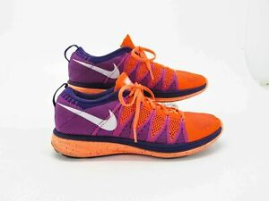 hablar Mierda Mal uso  Womens Nike Flyknit Lunar 2 Size 6 Running Shoes Atomic Orange 620658 500  for sale online | eBay
