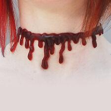 Red Blood Drip Plastic Chocker Necklace Gothic Halloween Fashion Jewellery