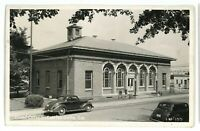 RPPC 1940s Old Cars at Post Office CARTERSVILLE GA Georgia Real Photo Postcard