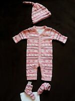 NWT Old Navy Girl 3-Piece Sleepers Set Fair Isle New Born / 0-3 M - Choose size