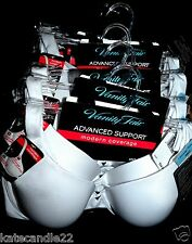 Lot of 6 Vanity Fair white Modern Coverage Advanced Support wire Bra 75231# 34C