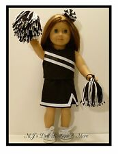 Black & White Cheerleader Set fits American Girl Doll