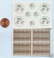 Miniature Dollhouse Kit Paper Plates-PlMat/OrientalGarden