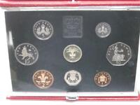 1990 Royal Mint deluxe proof set, red leather case with COA.