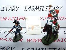 SOLDAT de plomb DEL PRADO 1/50 : AUSTERLITZ Napoléon : lot n°40 cavalier+soldat