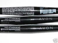 (3) AVON WASH-OFF WATERPROOF BLACK MASCARA NEW & SEALED