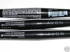 (3) Avon Wash-Off Waterproof Black Mascara New & Sealed lot of 3