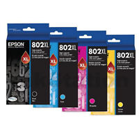 GENUINE Original Epson 802XL 4 Colours Value Pack High Capacity Ink Cartridge