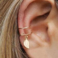 Damen Fashion Ohrklemme Cross Leaf Ohrclip Ear Cuff Wrap Ohrring Ohrschmuck Gift
