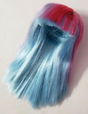 MONSTER HIGH DOLL CREATE-A-MONSTER CAM STARTER PACK ICE & BLOB BLUE WIG ONLY