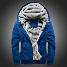 Men's Hoodie Overcoat Winter Warmth Fleece Zipper Sweater Jacket Outwear Coat CA