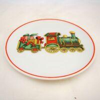"Vista Alegre Fine Porcelain Portugal CHRISTMAS MAGIC ""Train"" Coaster EXCELLENT"