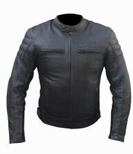 Giacca Uomo Moto Naked Custom Pelle Protezioni CE Rimovibili 46 48 50 52 54 56
