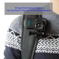 360° Rotary Backpack Belt Clip Clamp Mount for Gopro Hero 5 6 Yi 4K SJCAM Camera