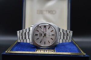 October 1980 Original Box Vintage Seiko 6309 8480 Automatic Bracelet Watch