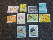 SINGAPORE POSTAGE STAMPS SG63,67,69,70A,72-77 FINE USED