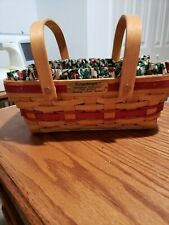 Longaberger 1996 Holiday Cheer Basket with liner and protector