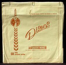 Pochette Cover Sleeve 78 trs Cassio Muniz, Copacabana 1960  32 x 33 cm  VG++
