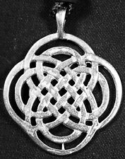 Knot with rounded corners Celtic Pewter Necklace -