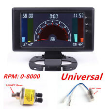 Multipurpose LCD Digital 6 in1 Auto Meter LED Oil Pressure/RPM/Water Temp Gauge