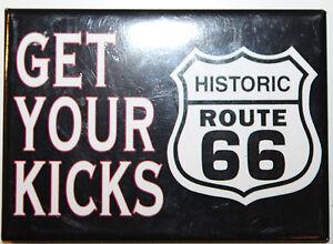 Historic Route 66 Get Your Kicks Black Magnet