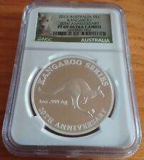 New ListingTrue Nr Auction 2013 Australia Kangaroo Ms 69 .999 Pure Silver Coin Ngc Oz