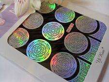 Nail Art Vinyl Manicure Stencils Guide Flower Curves Style Manicure Sticker N318
