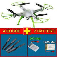 """Drone Quadricottero SYMA X5HW """"BIANCO"""" + 2 Batterie (1200mah Upgrade) e Ricambi"""