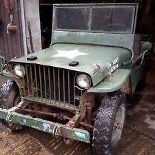 Willys jeep slat grill 1942 ww2 military vehicle classic car barn find