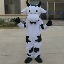 Halloween Cow Mascot Costume Cosplay Parade Party Dress Outfit Adult Suit Animal