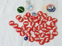 Vintage Win Political Pin Pinback Buttons HUGE LOT of 40 & Ford Coolidge Wallace