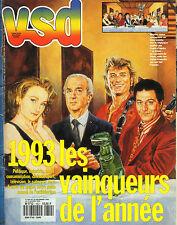 VSD N°852 vainqueurs de l'année 1993 les pandas mano dayak strip-tease masculin