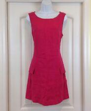 Elliott Lauren Berry Scoop Neck Slveless 2 Pocket Sz 8 Casual/Career Linen Dress