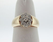 1/3ct Genuine Diamonds Solid 14k Two-Tone Gold Ring FREE Sizing