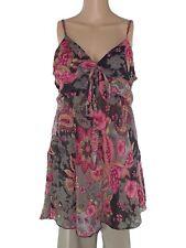 blusa donna floreale grigio rosa taglia m / l