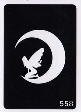 GT558 Body Art Temporary Glitter Tattoo Stencil Fairy & Moon