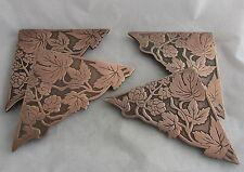 Antique Arts&Crafts Marshall Field Hops Vine Bronze Desk Blotter Corners