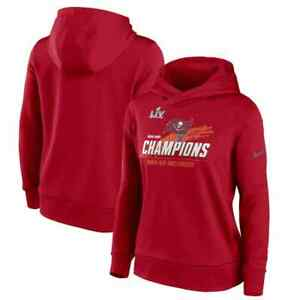 Women's Nike Red Tampa Bay Buccaneers Super Bowl LV Champions Touchdown Pullover
